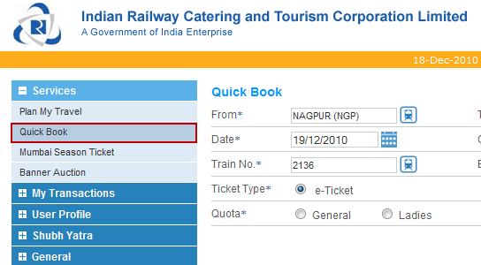 Irctc Login Tatkal A Blessing For Emergency And Frequent